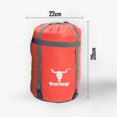 Double Camping Envelope Twin Sleeping Bag Thermal Tent Hiking Winter -10° C - red