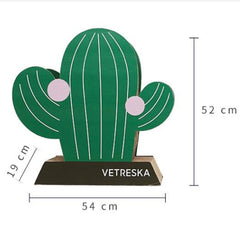 Vetreska Cat Kitten Scratcher Tree Cat Climbing Scratching Board Gym Cactus