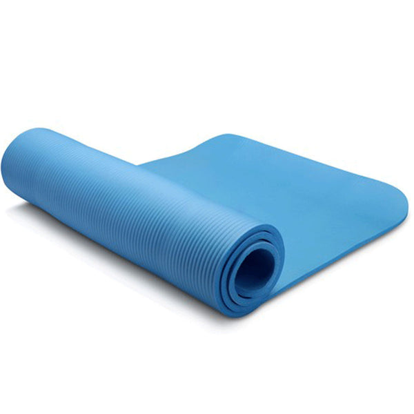 [Outdoor Living], [Pets], [Kids Toy] - Bargene10mm Extra Thick NBR Yoga Mat Gym Pilates Fitness Exercise - blue