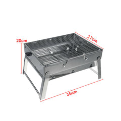 Portable Stainless Steel BBQ Charcoal Wood Outdoor Barbecue Grill Camping Picnic