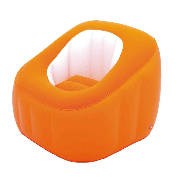 Bestway Cube Inflatable Air Chair Ottoman Indoor Outdoor - orange