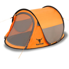 One Touch Easy Set Up Pop Up Instant 2 Person Tent UV Protect Antomatic - orange