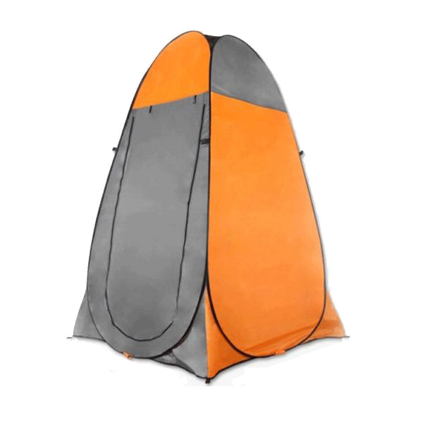 Pop Up Camping Shower Toilet Tent Outdoor Privacy Portable Change Room Shelter - orange