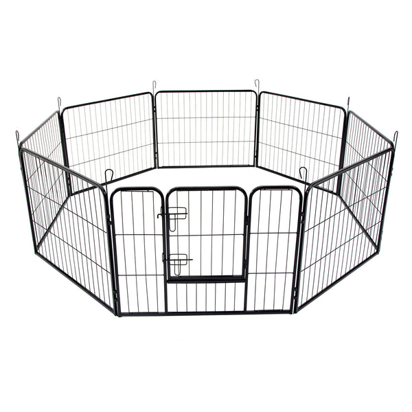"40"" Best 8 Panel Pet Playpen Dog Cage Puppy Exercise Crate Enclosure Rabbit Fence"