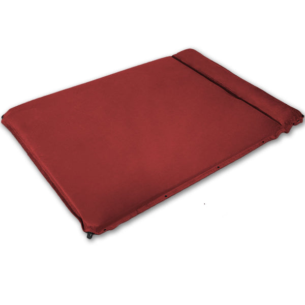 Double Self Inflating Suede Mattress Mat Sleeping Pad Air