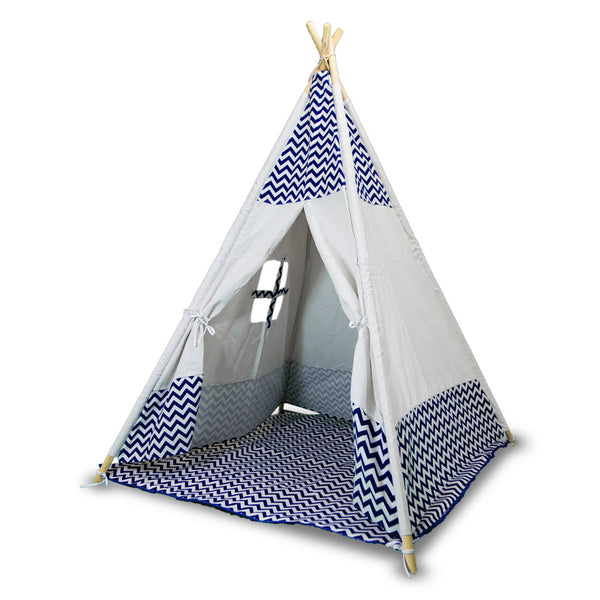 Giant Cotton Canvas Kids Teepee Children Pretend Play Tent Indoor Outdoor Party