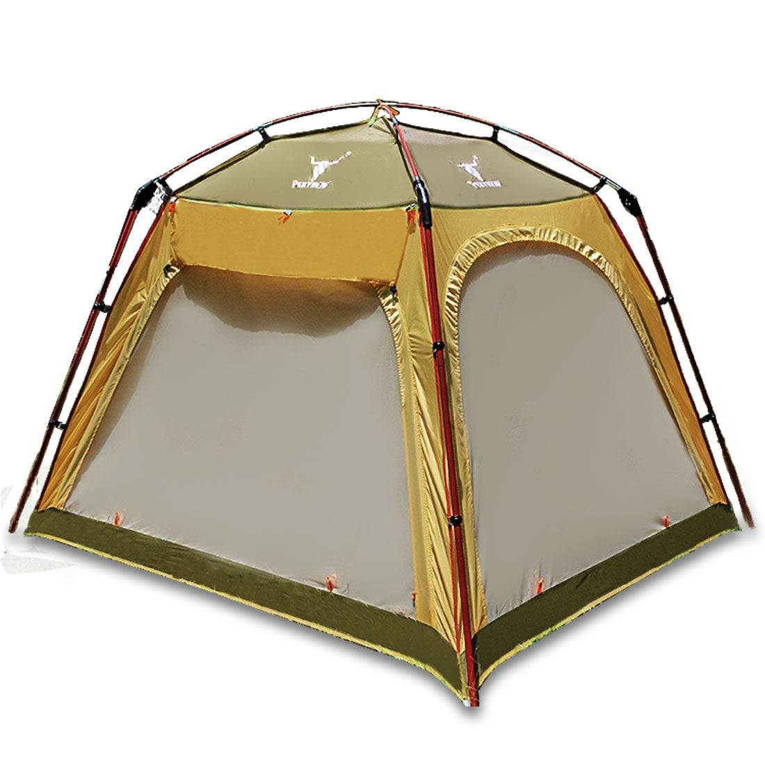 4 - 6 Person Man Family Camping Dome Tent Canvas Swag Hiking Beach Shade Shelter Green