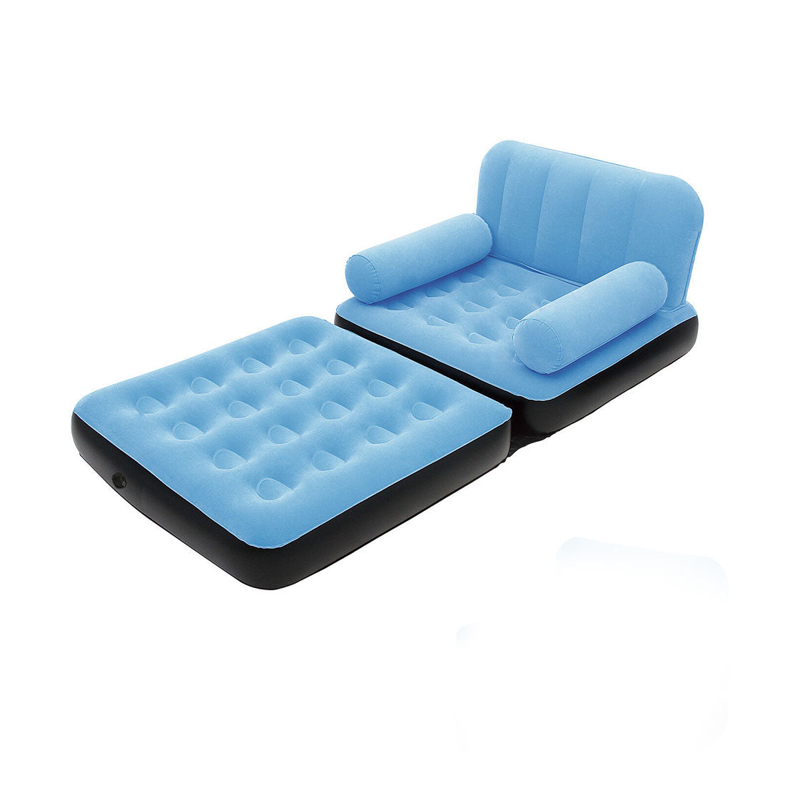 Bestway Inflatable 2 in 1 Couch Chair Air Bed Single - blue