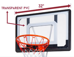 Portable Basketball Hoop Stand System Height Adjustable Net Ring Kids Junior