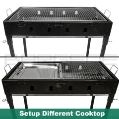 Large Portable Charcoal Outdoor BBQ Barbecue Grill Set