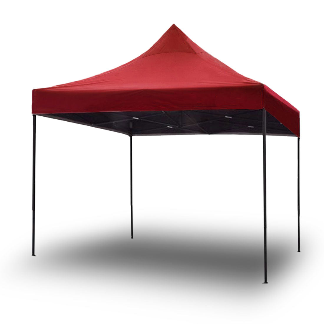 3x3m Pop Up Gazebo Outdoor Tent Folding Marquee Party Camping Market Canopy - red