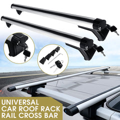135CM Universal Adjustable Aluminum Alloy Car Roof Rack Cross Bars Carrier Lock