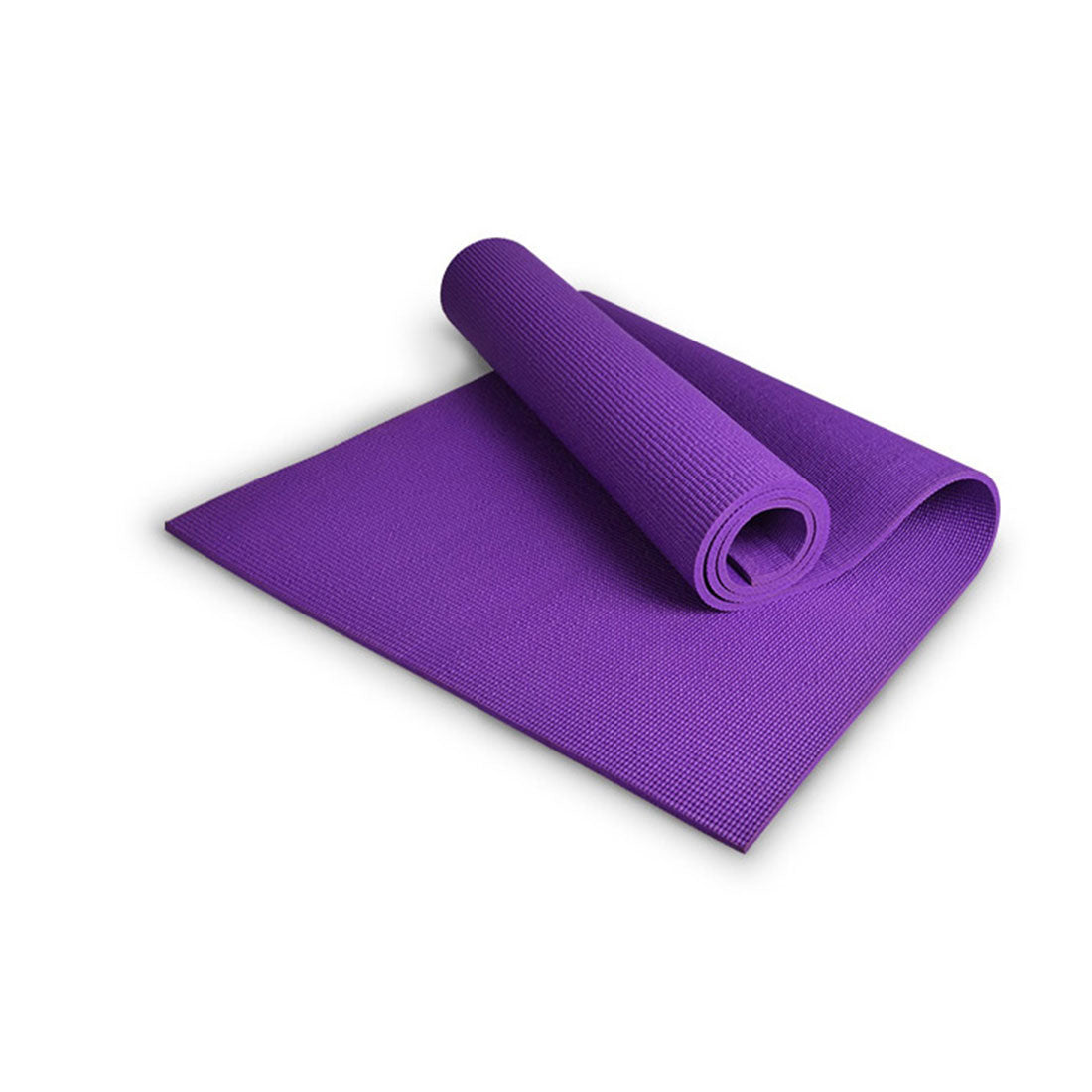 Extra Thick 6mm PVC Yoga Gym Pilate Mat Fitness Non Slip Exercise Board - purple