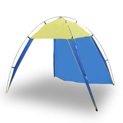 Portable Beach Tent Sun Shelter UV Shade Family Outdoor Camping Yard To 4 People - blue