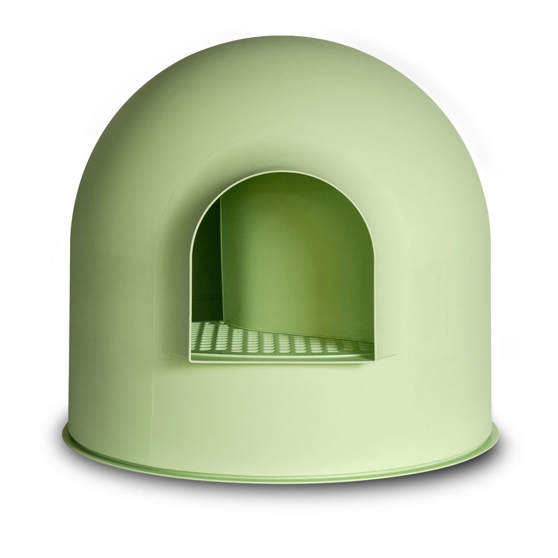 Pidan Igloo Snow House Portable Hooded Cat Toilet Litter Box Tray House with Scoop - green