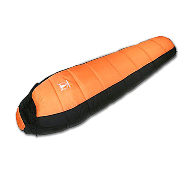 -15°C Outdoor Camping Sleeping Bag Thermal Tent Hiking Winter Compact Orange