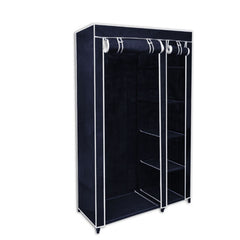 5 Shelves Brand New Easy to assemble Portable Wardrobe - navy