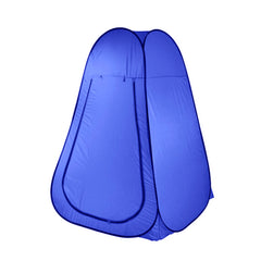 Pop Up Camping Shower Toilet Tent Outdoor Privacy Portable Change Room Shelter - blue
