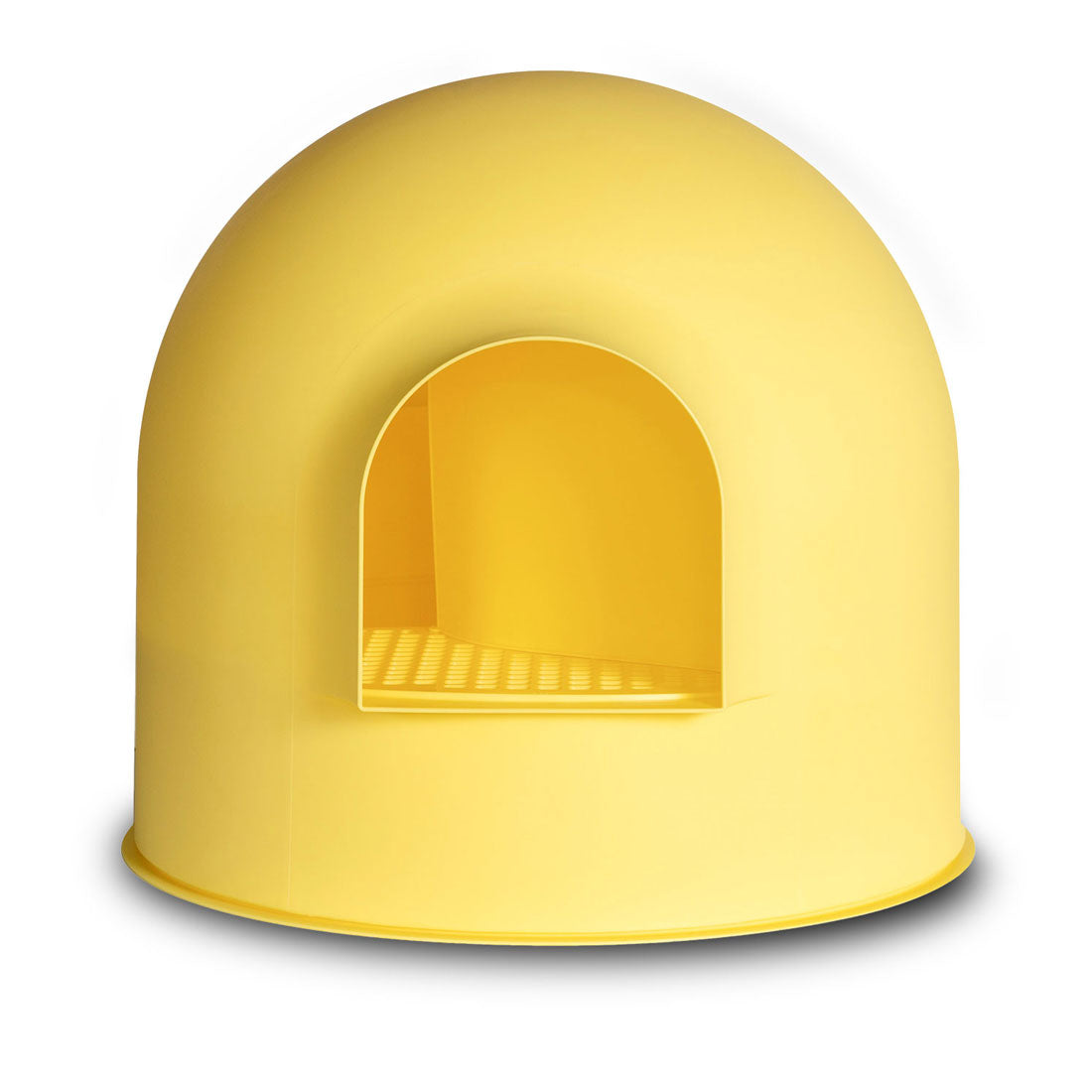 Pidan Igloo Snow House Portable Hooded Cat Toilet Litter Box Tray House with Scoop - yellow