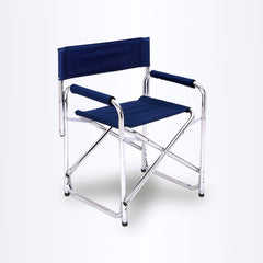 Directors Aluminium Folding Chair Camping Picnic Director Fishing Foldable - navy