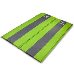 Double Self Inflating Mattress Sleeping Mat Air Bed Camping Camp Hiking Joinable - green