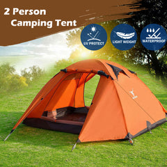 2 Person Portable Outdoor Lightweight Cycling Hiking Backpacking Camping Waterproof Tent