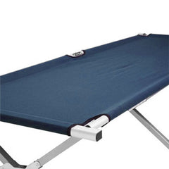 Camping Bed Folding Stretcher Light Weight w/ Carry Bag Camp Portable - navy