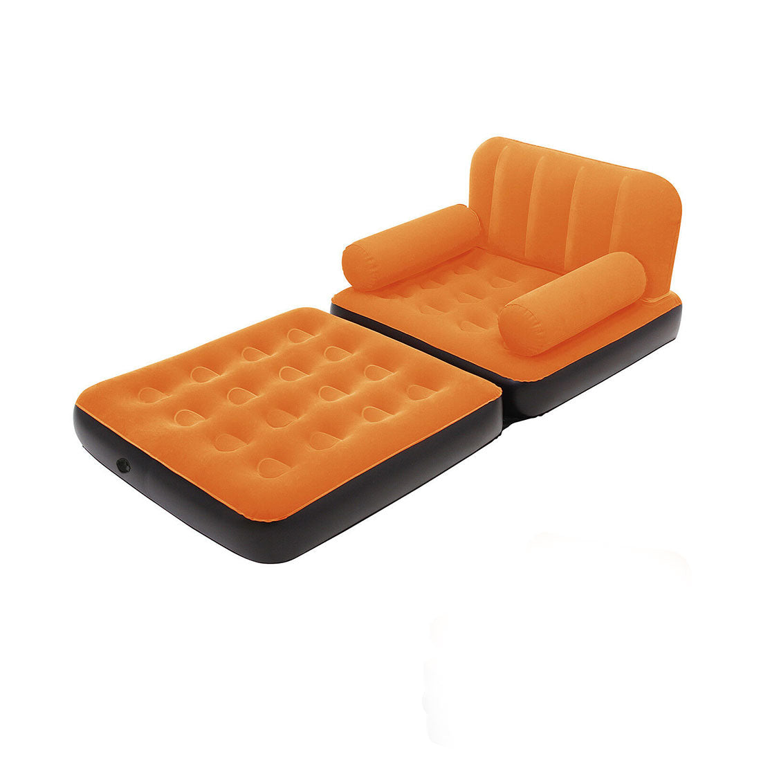 Bestway Inflatable 2 in 1 Couch Chair Air Bed Single - orange
