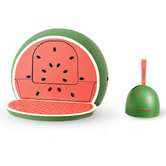 Vetreska Fruity Portable Cat Kitty Toilet Litter Box Tray House Lid Scoop Set Watermelon