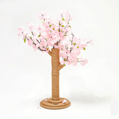 Vetreska Cat Kitten Scratcher Cherry Blossom Tree Climbing Scratching Board Gym