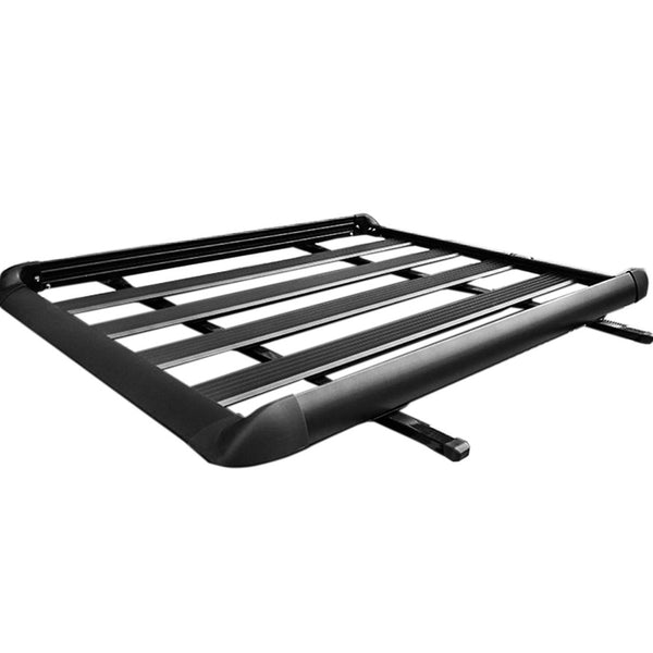 1.6M Aluminium Alloy Car 4WD 4x4 Roof Rack Basket Cargo Luggage Carrier Box Bar Black