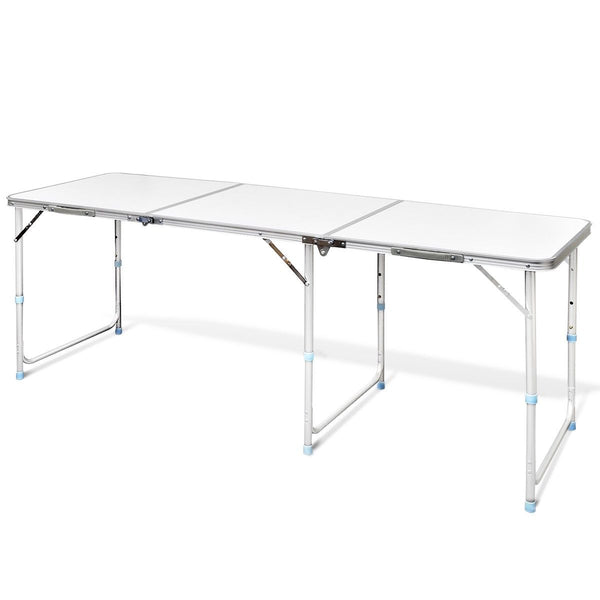 180cm Aluminium Folding Camping Table Portable Picnic Outdoor Garden BBQ Dining Desks