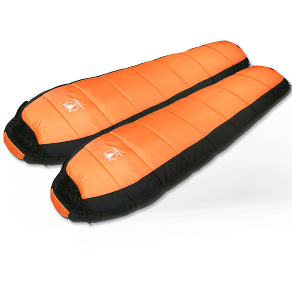 d5fed10df63 -15°C Double Camping Sleeping Bag Combo Twin Thermal Tent Hiking Winter  Compact