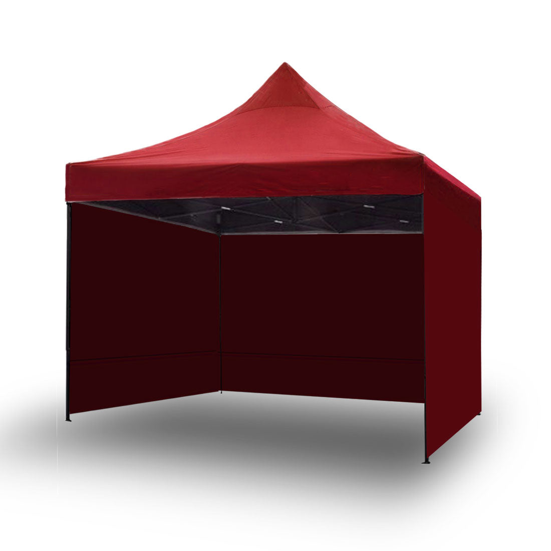 3x3m Pop Up Gazebo Outdoor Tent Folding Marquee Party Camping Market Canopy w/ Side Wall - red 的副本