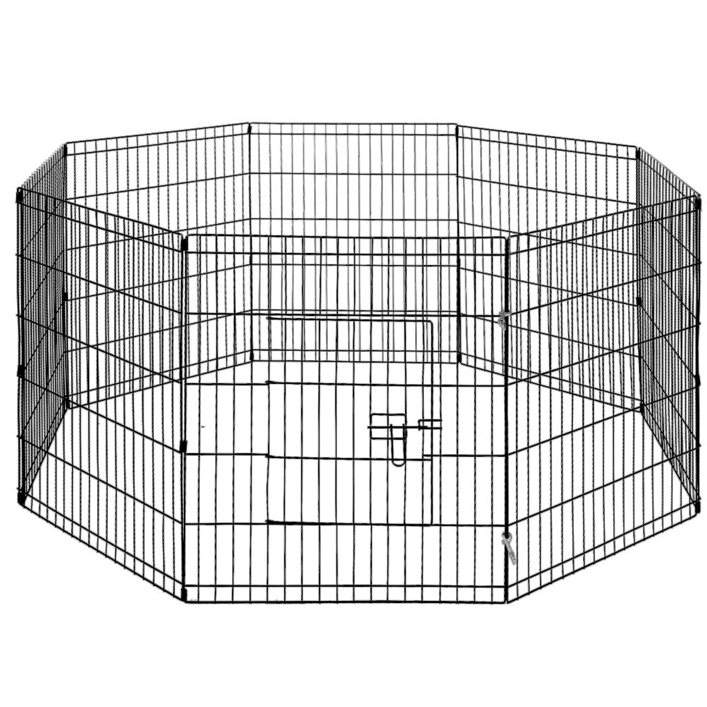 8 Panel Pet Dog Playpen Puppy Exercise Cage Enclosure Fence Play Pen