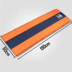 Double Self Inflating Mattress Sleeping Mat Air Bed Camping Camp Hiking Joinable - orange