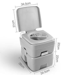 20L Outdoor Portable Camping Toilet 50 Flush