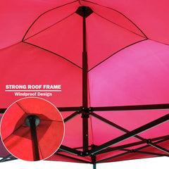 3x3m Pop Up Gazebo Outdoor Tent Folding Marquee Party Camping Market Canopy w/ Side Wall - red