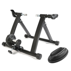Indoor Bicycle Trainer Home Gym Exercise Foldable Parabolic Bike Training Fitness Cycling Stand W/ Front Support Pad