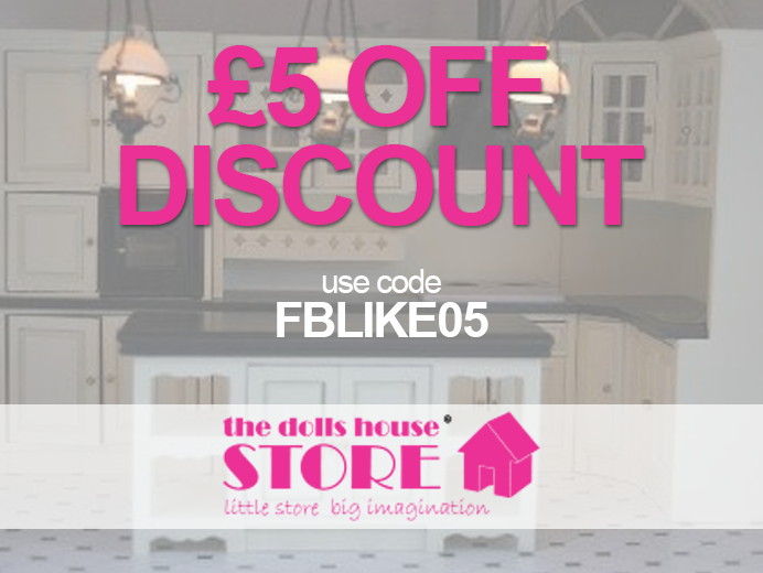 Here's the latest Discount Code from The Dolls House Store!