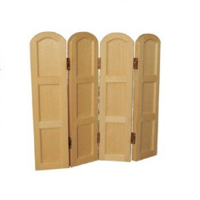 Dolls House Miniature 4 Panel Screen, Whitewood Furniture - The Dolls House Store