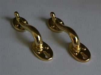 "1"" Cupboard Handles x2 in Polished Brass"
