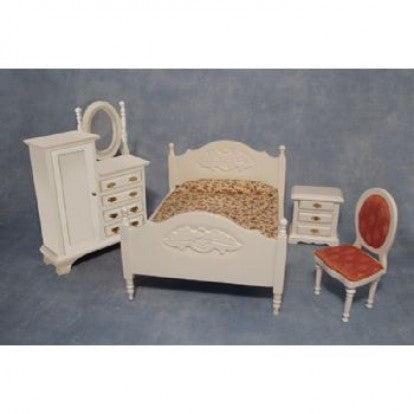 Dolls House Miniature Bedroom Set, Bedroom - The Dolls House Store