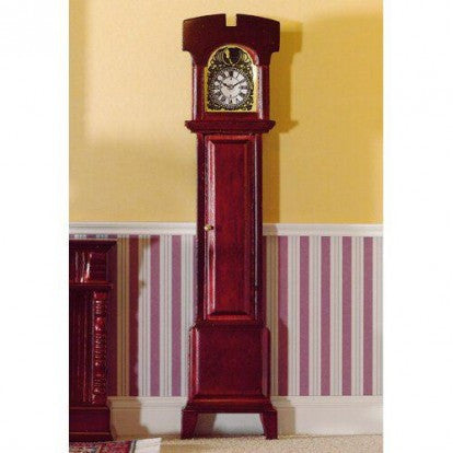 Non-Working Grandfather Clock Mahogany Finish