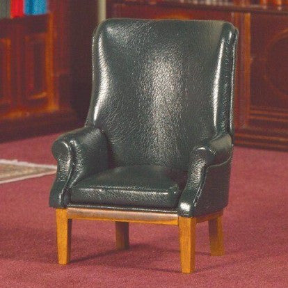 Green Leather Porter's Chair