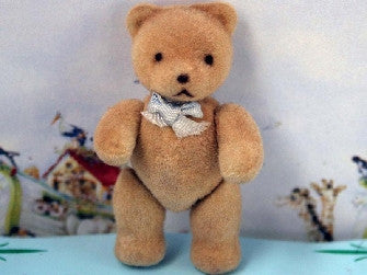 Flock Teddy Blue Bow