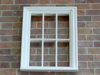 1/24th scale Victorian 6 pane window