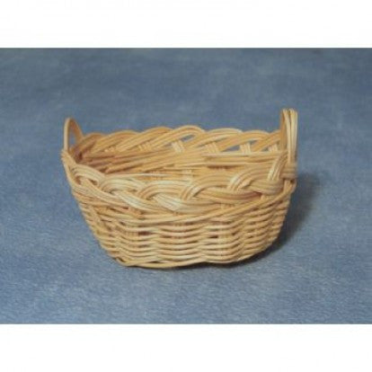 Dolls House Miniature Wash Basket 6cm, Laundry - The Dolls House Store