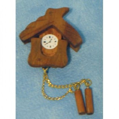 Dolls House Miniature Cuckoo Clock, Clocks - The Dolls House Store