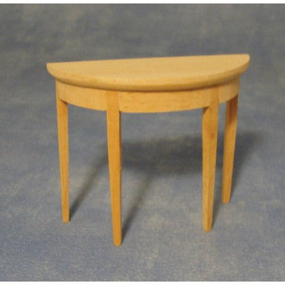 Dolls House Miniature Bare wood Hall Table, Whitewood Furniture - The Dolls House Store